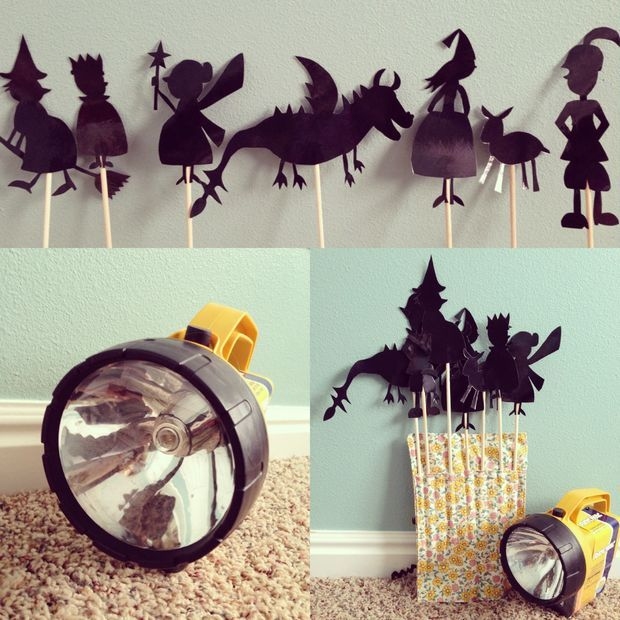 DIY shadow puppets.