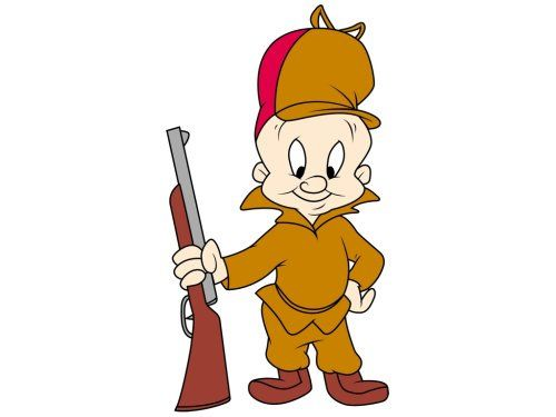"""Elmer Fudd, the most famous """"Wabbit"""" hunter in the world.  Looney Tunes"""