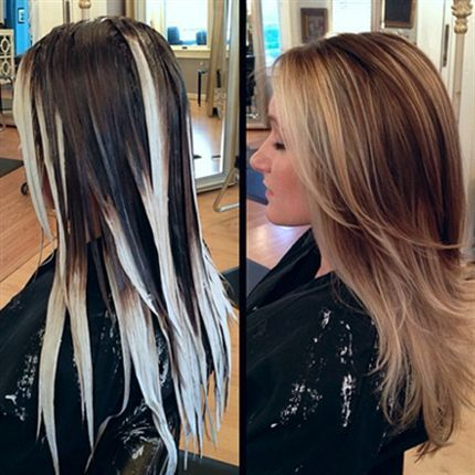 Behind The Chair - Balayage how to @brandiwurth can you do this :) but a little less blonde :)