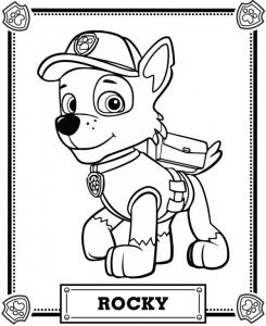 Display image coloriage-pat-patrouille-rocky