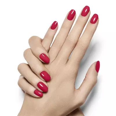 Lollipop - Bright Red Nail Polish Manicure - Essie On-Hand Looks