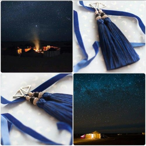 "Efulki Tassels ""Night in Sahara Desert""."