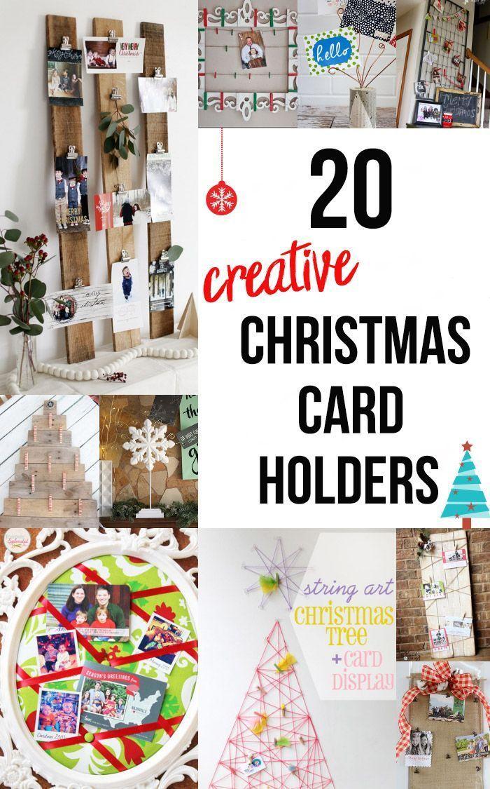 20 Diy Christmas Card Holder Ideas Diy Christmas Cards Easy Christmas Diy Christmas Card Display