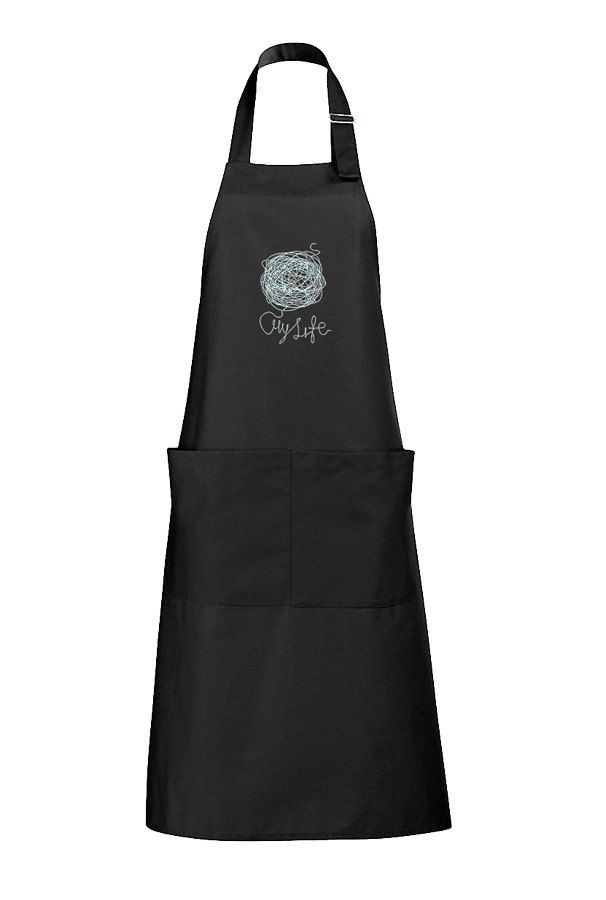 My Life Apron Apron with pockets Silkscreen by ClothMothTshirts