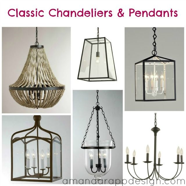 Lighting Inspirations: Chandeliers & Pendants. Hallway lights, kitchen lights, bedroom lights, foyer light, amandarappdesign.com