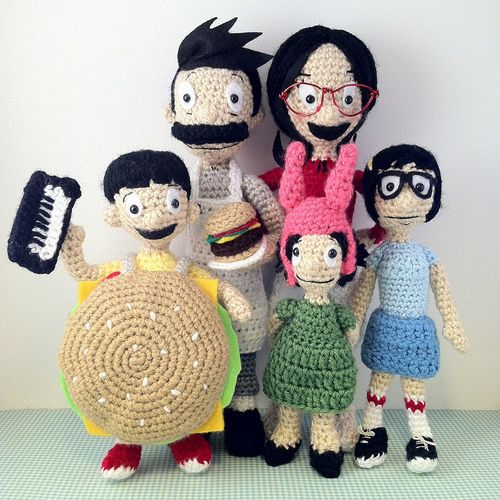 "I posted a great feature on KnitHacker today: ""Bob's Burgers in Knit and Crochet!"" #bobsburgers #knit #crochet #knithacker (the one seen here was created by SmileFelt)Bobsburgers Knits"