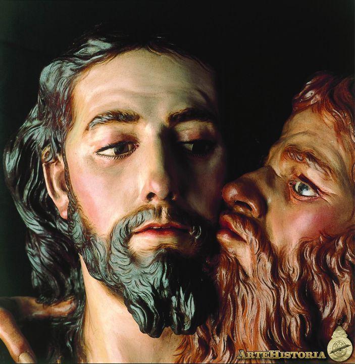 Judas kiss Jesus, by Francisco Salzillo y Alcaraz, circa 1750, Murca, Spain