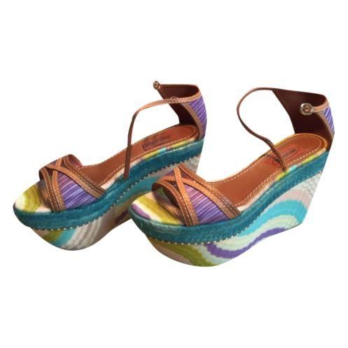 best service e32ff e4ace MISSONI - Sandalo con zeppa | Passion shoes | Zeppe, Sandali ...