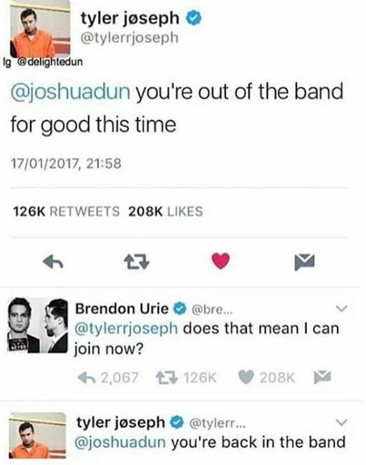 Twenty One Pilots and Panic at the Disco! Brendon Urie