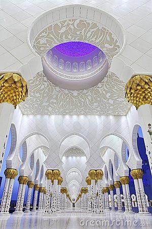 Interiors of Sheikh Zayed Mosque, Abu Dhabi