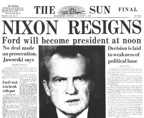 richard nixon resignation speach research paper The nixon shock was a series of economic measures undertaken by united states president richard nixon in 1971, the most significant of which was the unilateral cancellation of the direct international convertibility of the united states dollar to gold.