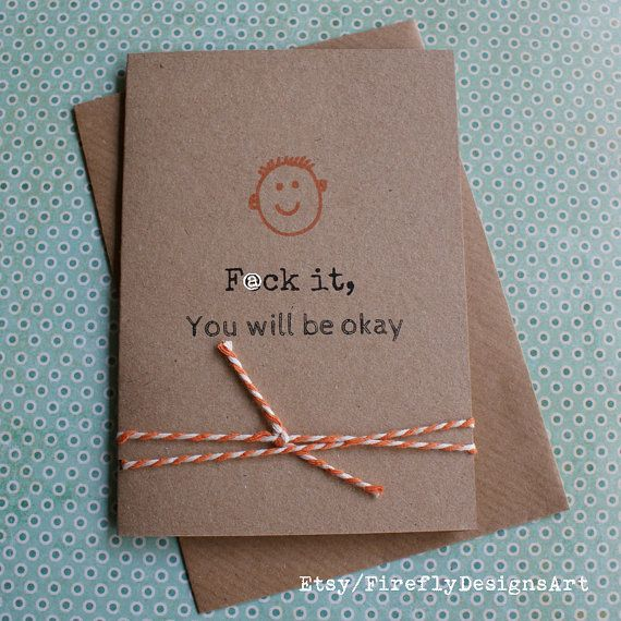 F@ck it, you will be okay! Funny smart Irish greeting card
