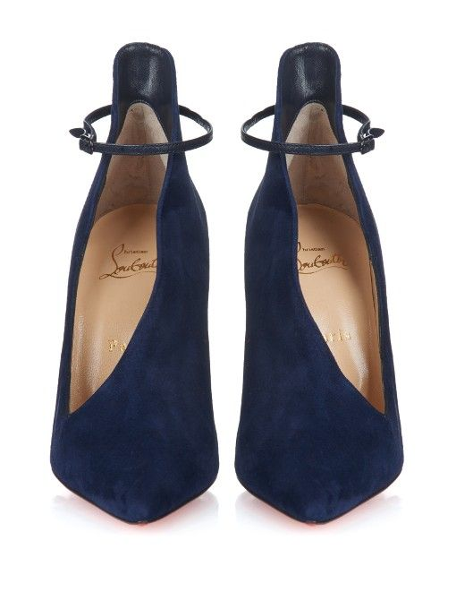 Christian Louboutin Vampydoly suede pumps.