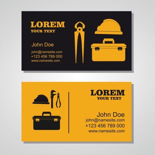 Business Card For Plumbing Repairs Stock Vector Affiliate Plumbing Card Bus Illustration Business Cards Business Card Template Design Business Cards
