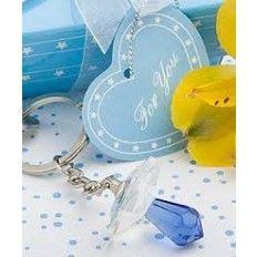 Crystal Pacifer Keychain Blue Favour