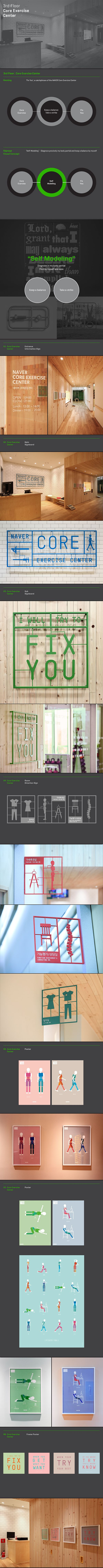 NAVER GREEN FACTORY 2.0 SIGNAGE SYSTEM DESIGN PROJECT by Plus X, via Behance