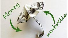 Money UMBRELLA Origami 2 Dollar bills Tutorial DIY…