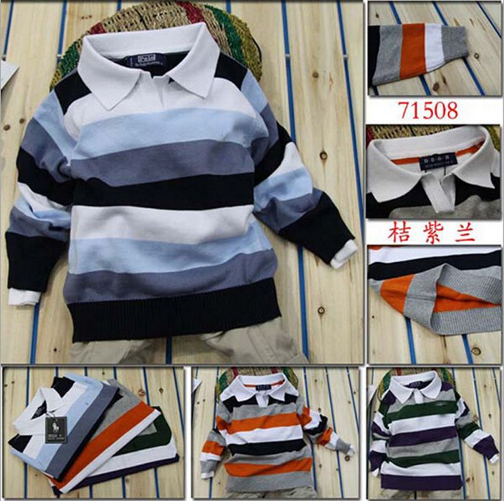 Baby boy sweater Stripe fashion brand Spring Autumn children clothes V-neck designer party kid Casual sweater camiseta infantil