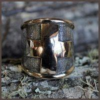 Big gold cross ring - Fia Fourie Juwele