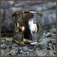Big gold cross ring - Fia Fourie Juwele