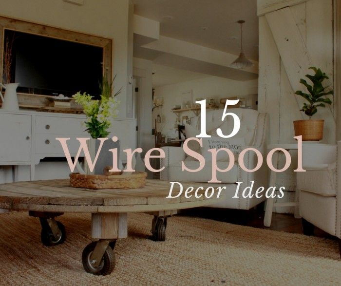 I am featuring 15 awesome wire spool decor ideas for you today! Come check out some great ways to transform a wire spool.