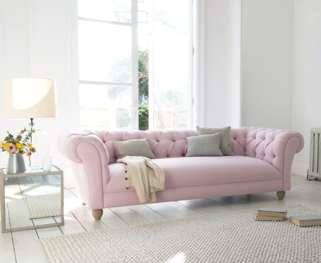 Meet our fresh new take on an old-school classic sofa: the slightly groovier grandchild of a traditional Chesterfield. Zero plumping. Maximum loafing.