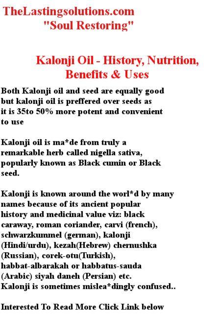 Kalonji Oil – History, Nutrition, Benefits & Uses - Secrets Work & Lasting Secrets & Free!