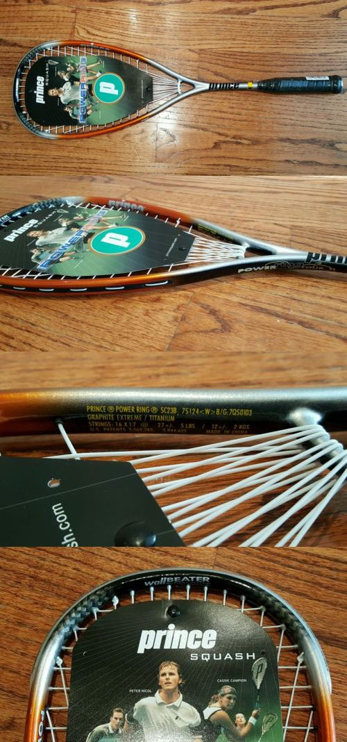 Squash 62166: New! Prince Power Ring Tour Ti Squash Racquet -> BUY IT NOW ONLY: $62.99 on eBay!