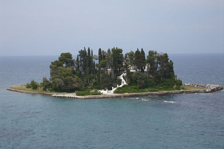 """Greek island Pondikonisi, near Corfu, was likely the inspiration for Arnold Bocklin's """"Isle of the Dead"""" series."""