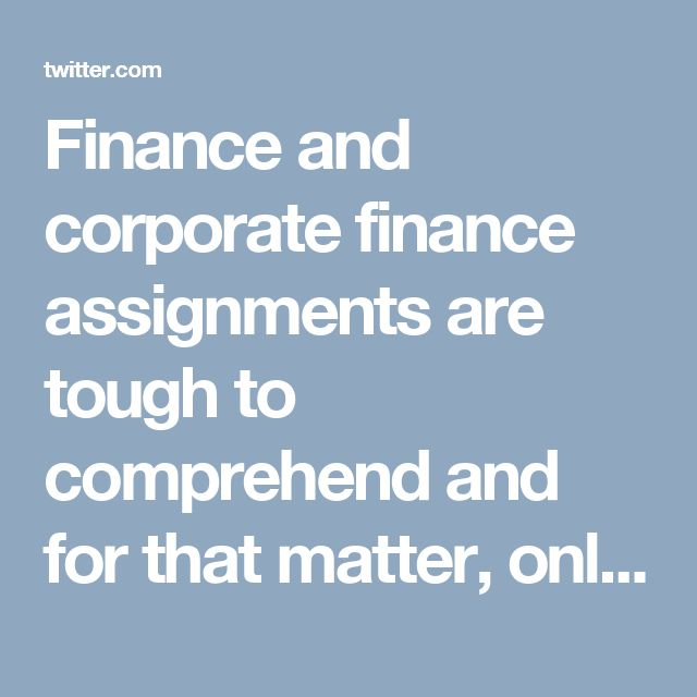 Finance and corporate finance assignments are tough to comprehend and for that matter, online help can be very fruitful for students.
