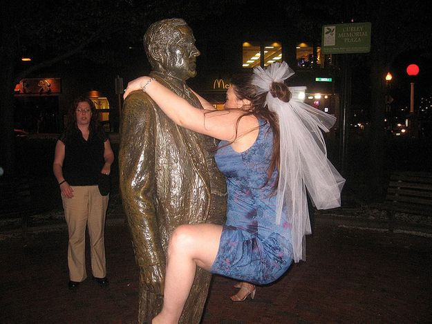 11.  I know it's tempting, but please do not hump the statues: