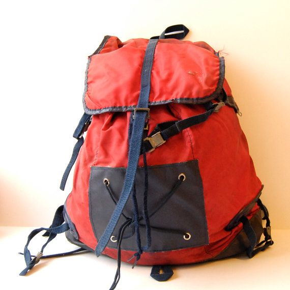 Vintage 70s hiking backpack.  Made by Sacs Millet