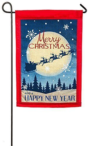 Evergreen-Embroidered-Vintage-Merry-Christmas-Burlap-Garden-Flag-12-5x18-inches
