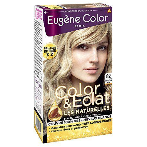 Eugène Color  - Color & Eclat - Coloration Permanente Brillance Longue Durée  à l'Huile d'Argan - Nuance Blond Clair Sable 82 - Lot de 2 #Eugène #Color #Eclat #Coloration #Permanente #Brillance #Longue #Durée #l'Huile #d'Argan #Nuance #Blond #Clair #Sable