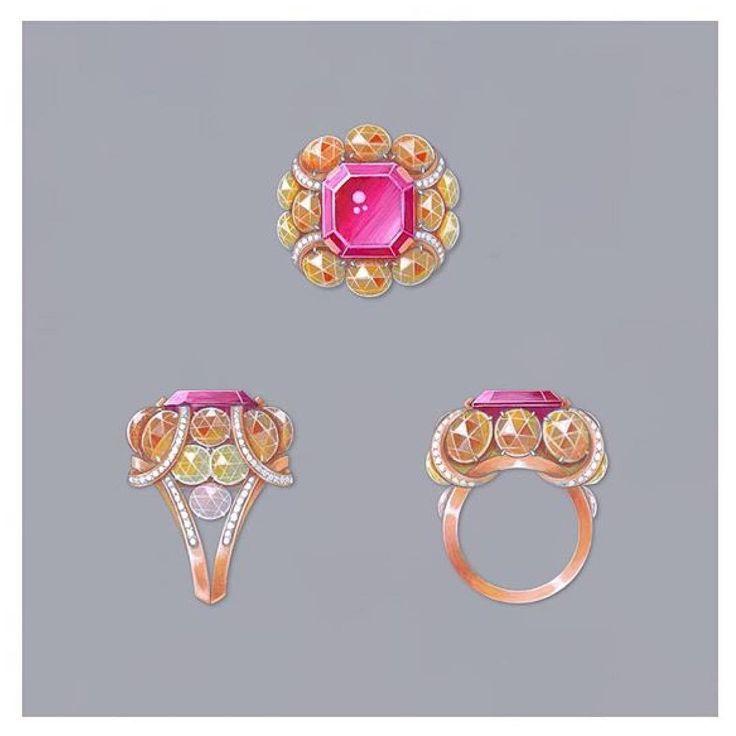 Design by @mellerioditsmeller #jewelry #jewellery #jewelryrendering…