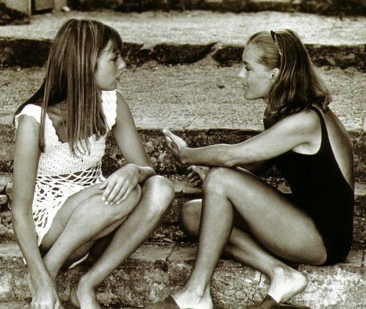 Romy Schneider and Jane Birkin in La Piscine, 1969.