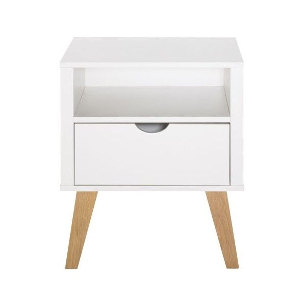Frieda 1 Drawer Bedside Table (1.745 NOK) ❤ liked on Polyvore featuring home, furniture, storage & shelves, nightstands, one drawer nightstand, 1 drawer nightstand, single drawer nightstand and frieda