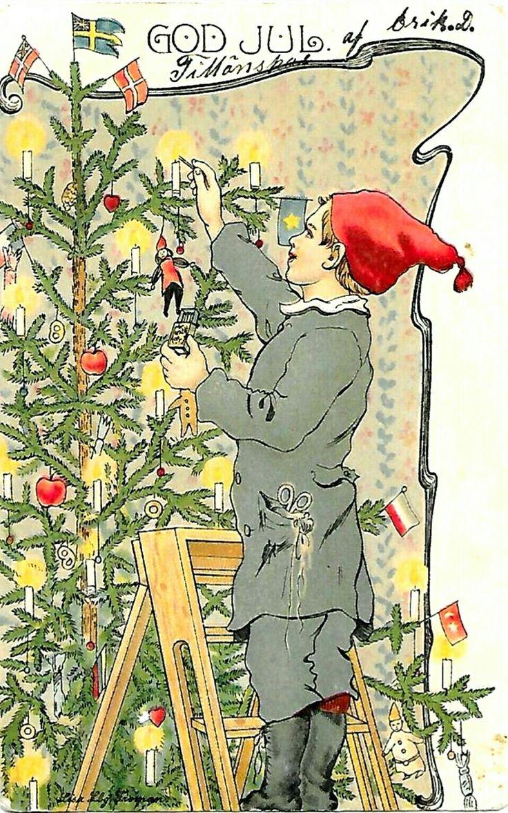 Julkort Lisa Lindberg Fröman tidl 1900-tall