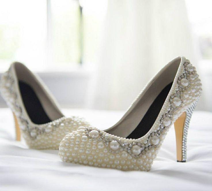 Beaded,diamanté wedding shoes
