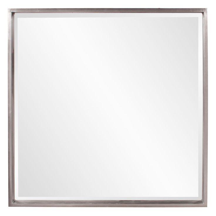 Isa Nickel Square Mirror Howard Elliott Collection Wall Mirror Mirrors Home Decor