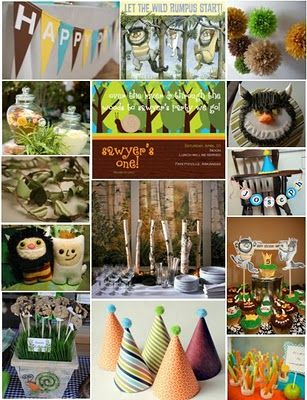 Where the Wild Things AreIdeas Boards, Birthday Parties, Wild Things, Interiors Design, Inspiration Boards, 1St Birthday, Parties Ideas, Wild Rumpus, Parties Inspiration