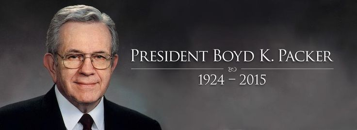 7.3.15 President Boyd K. Packer passes away at age 90