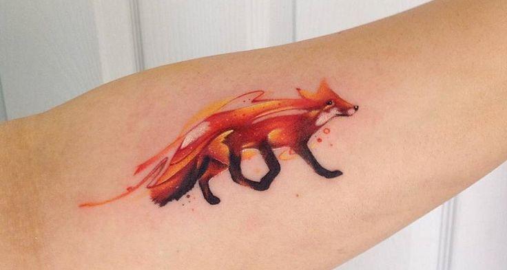 Tatuajes de zorros, los tatuajes de los animales más astutos - http://www.tatuantes.com/tatuajes-de-zorros/ #tattoo