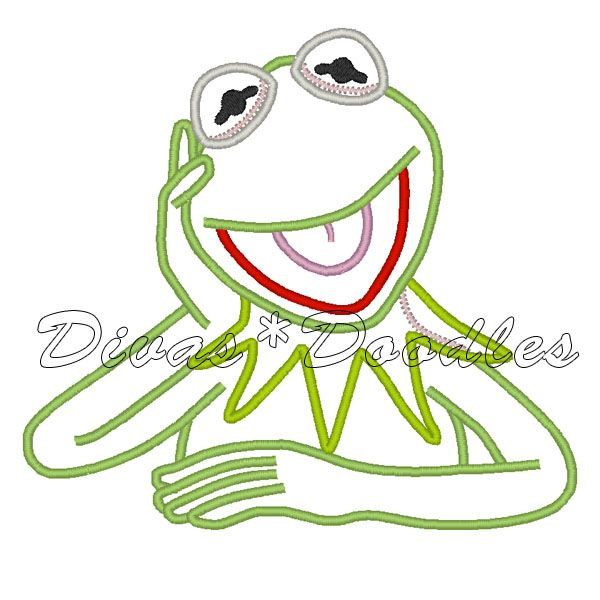 kermit the frog machine embroidery design