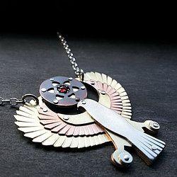 Winged Horus Holding Seed of Life Pendant
