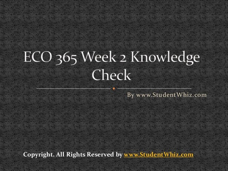 Questions to ECO 365 Week 2 Knowledge Check are as follow: 1. A perfectly competitive firm will be profitable if price at the Profit maximizing quantity is above MC ACV ATC AFC  2. in a perfectly competitive market, individual producers determine market prices market supply and market demand determine the price the entrepreneur determines the price individual
