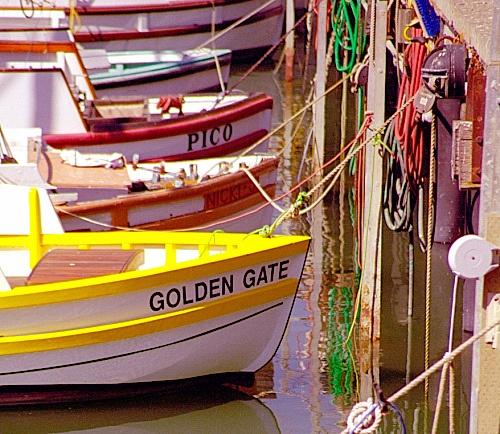 Boats at Fisherman's Wharf, Pier 43: Pier 43, Golden Gates, Fishermans Wharf, Favorite Places, Baycityguid Sanfrancisco, Wharf Pier, Row Boats Colors, San Francisco, 43 Golden