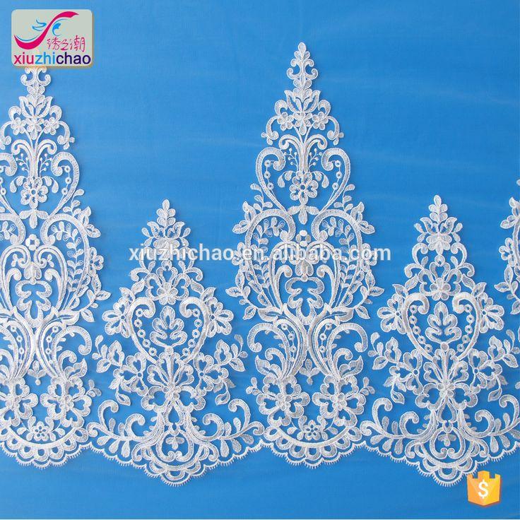 XT0153A Latest embroidery designs fancy lace design for wedding dress turkish wedding dress designers