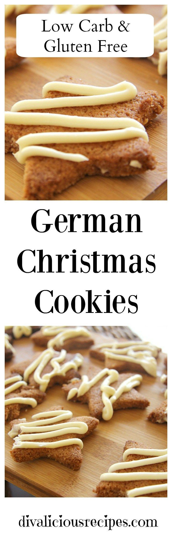 This is a Christmas cookies recipes that is loosely based on a German cookie recipe.   Zimtsterne are traditional cinnamon biscuits served at Christmas time in Germany.   The original recipe is gluten-free but I've tweaked it to make it low carb too. Reci