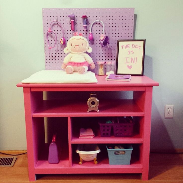 bella c parties turn an old cabinet into doc mcstuffins cuddle clinic